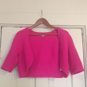 MICHAEL KORS Shrug Cardigan Sweater Fuchsia Pink